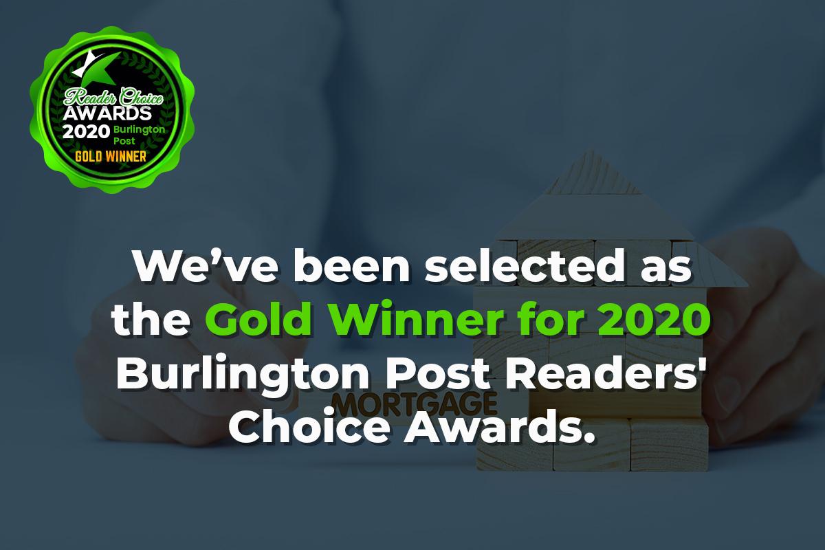 Burlington mortgage broker awarded Reader's Choice Gold Award 2020